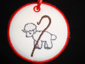23. Jesse Tree Lamb/Staff 2