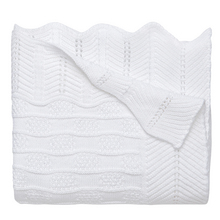 EB Fancy White Textured Blanket