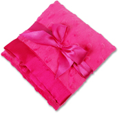 Personalized Hot Pink Minky Dot/Hot Pink Satin Security Blanket