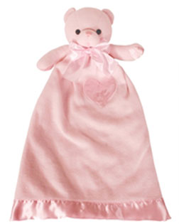 Personalized Pink Bear Lovie Security Blanket (TEMPORARILY OUT OF STOCK)