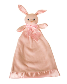 Personalized Pink Bunny Lovie Security Blanket (TEMPORARILY OUT OF STOCK)