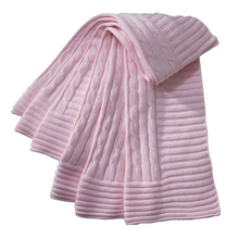 EB Classic Cable Blanket Pink