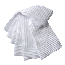 EB Classic Cable Blanket White