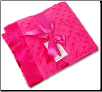 Personalized Hot Pink Minky Dot/Hot Pink Satin Receiving Blanket