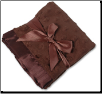 Personalized Chocolate Minky Dot/Chocolate Satin Security Blanket