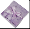 Personalized Lavender Minky Dot/Lavender Satin Security Blanket