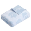 EB Elephant Blue Knit Blanket